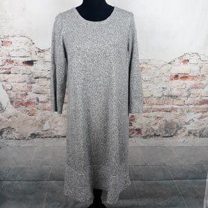 Ann Taylor LOFT Lp Gray Camel Hair Sweater Dress